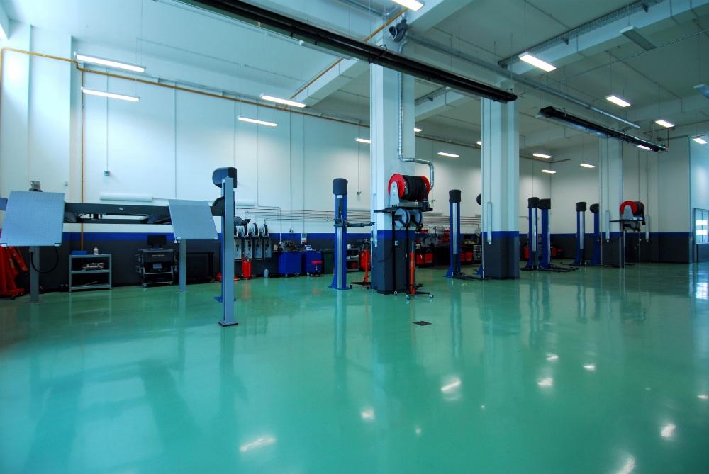 Epoxy Coating on automotive shop floor