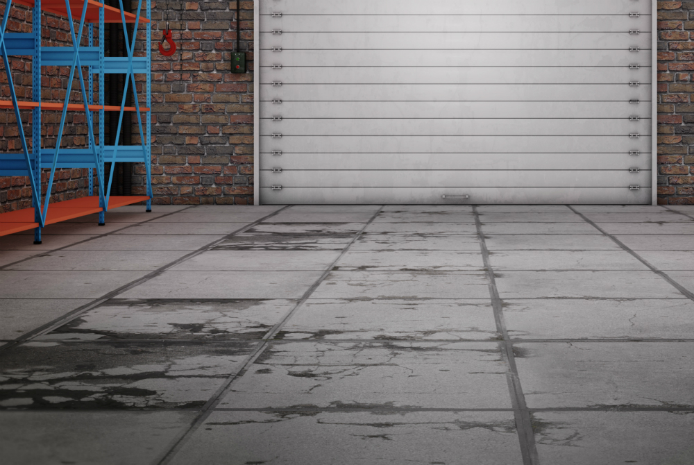 condition of a concrete slab floor