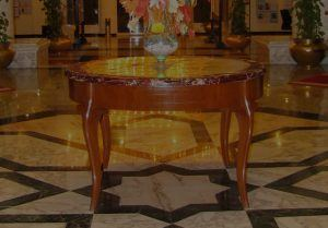 Decorative Floor With Table
