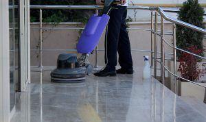 Man Polishing Floor Epoxy